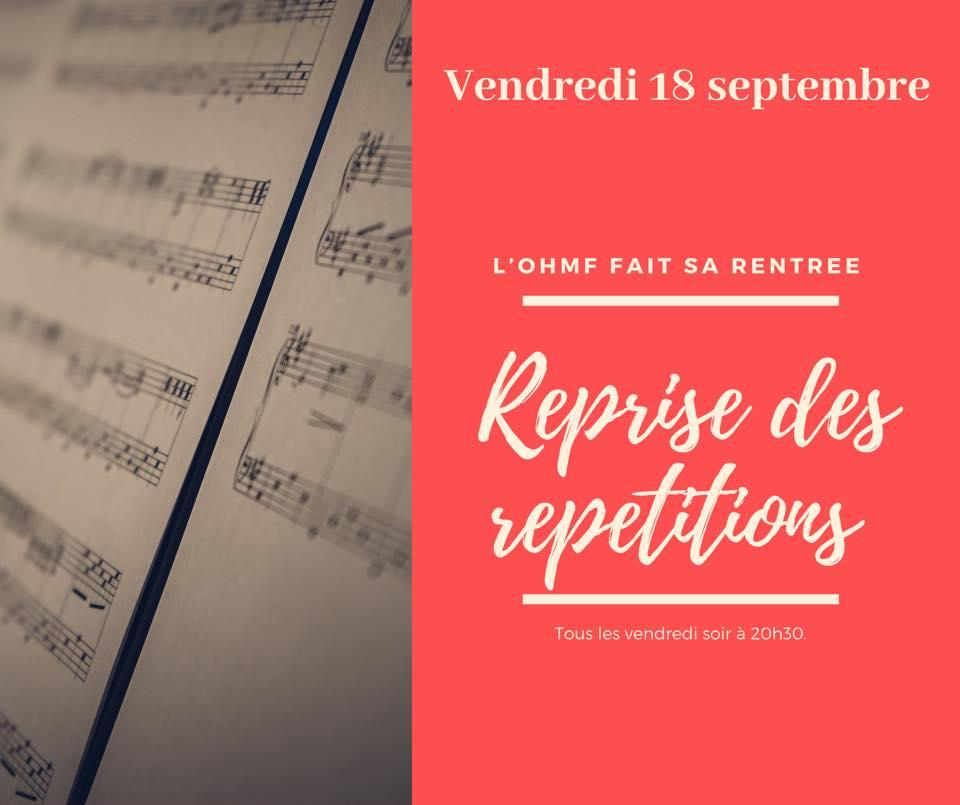 Reprise Des Répétitions Automne 2020
